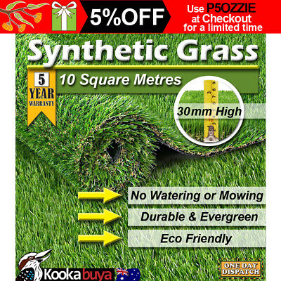Artificial Grass 10 SQM Roll Synthetic Artificial Turf Flooring 30mm Pile Height