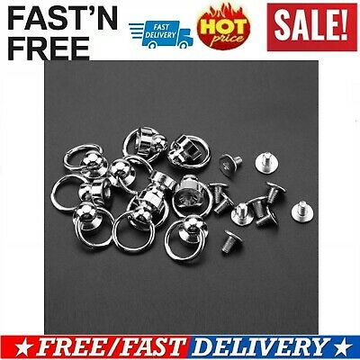 10pcs 9mm Brass Rivet Studs Round Head O Ring Spiles DIY Leathercraft Decors HOT