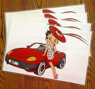 Betty Boop Dinner Placemats ~ Custom Made - One of a Kind - Laminated - Set of 4