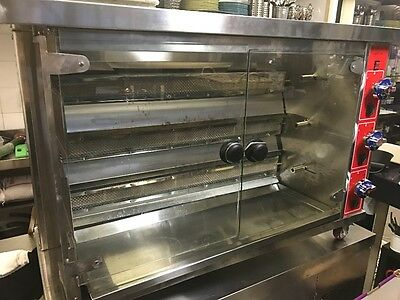 European Style Rotisserie - 3 Level Horizontal Chicken Roasting / Oven