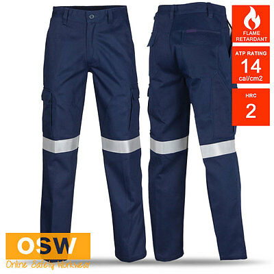 Unisex Flame Fire Retardant Anti Static 3M-Taped Day/Night Work Cargo Pants