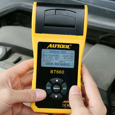 AUTOOL BT-660 Car Cranking Charging Battery System Tester with Printer 12V CCA