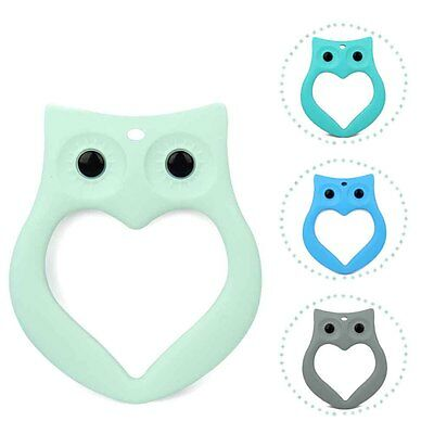 Baby Kids Silicone Owl Teething Pacifier Pendant Teeth Toy Soother Teether