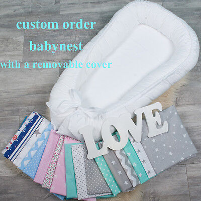 Colour your nest, custom order babynest with Removable cover co sleeper baby bed