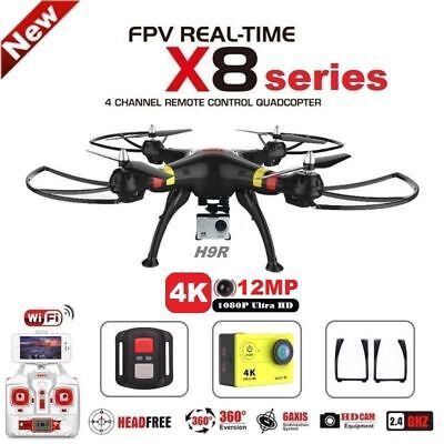 SYMA X8 Series FPV RC Drone With H9R 4K Camera 1080p Ultra HD WiFi 2.4G 4CH RC Q