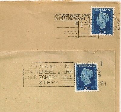 2 Covers  Pays Bas Netherlands Amsterdam To Sweden. L 494