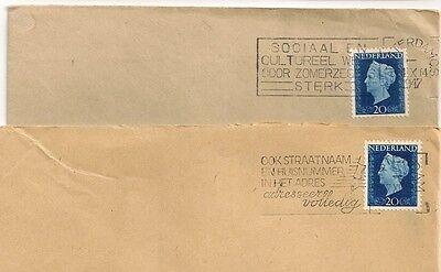 2 Covers  Pays Bas Netherlands Amstedam To Sweden. L 493
