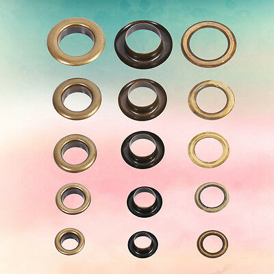 8/10/12/14/17mm Brass Eyelets Shoes Clothes Crafts Belts Bags Leather Fabric New