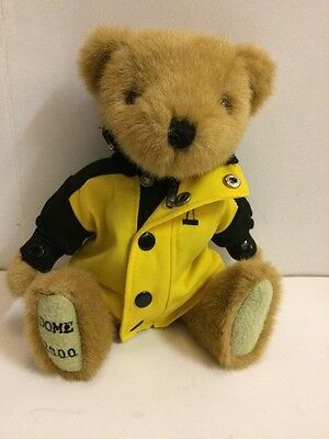 London Millenium Dome 2000 Traditional Jointed Soft Toy Teddy Bear Uniform