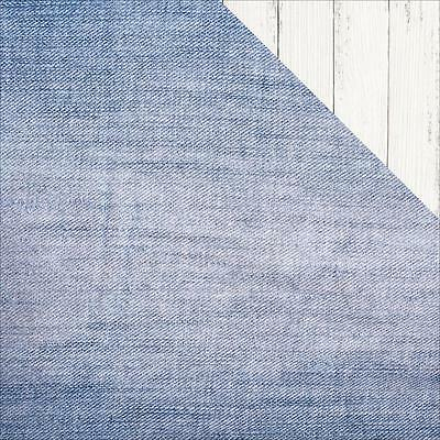 """Kaisercraft Basecoat IV - JEANS - 12x12"""" D/sided Scrapbooking Paper"""