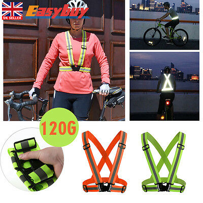 Reflective Vest Harness High Visibility Running Walking Cycling Sport Safety