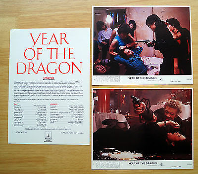 Year of the Dragon (1985) Movie Press Kit Mickey Rourke, John Lone, Ariane