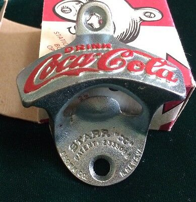 Vintage Starr X Coca-Cola Stationary Wall Mount Bottle Opener