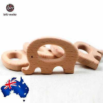 baby teether baby wooden safe infant toys Elephant wooden teether