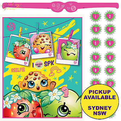 Shopkins Party Supplies Birthday Activity Game 2 To 16 Players Banner Decoration