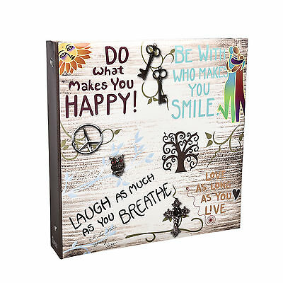 6x4'' 500 Large Slip In Photo Album - Life inspirational slogans Cover - DH500