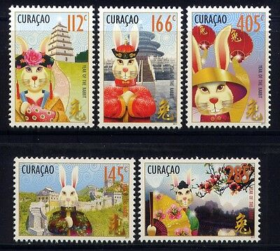 CURACAO 2011 Jahr des Hasen Year of the Rabbit Zodiac 14-18 ** MNH