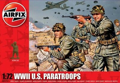 A01751 Airfix WWII US Paratroops Plastic Model 1:72 Scale - New UK
