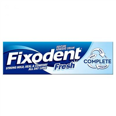 Fixodent Fresh Complete Denture Adhesive Cream Strong Hold Food Seal Comfort 47g