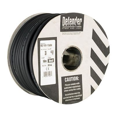 Defender E87448 4.0mm 50m 3 Core Rubber H07RN-F Cable 230V (CLEARANCE)