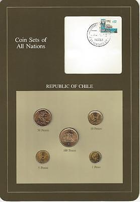 Coin Sets of All Nations - Chile, 5 coin set