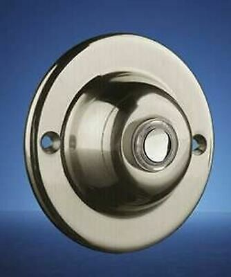 Byron Wired Door Bell Surface Mounted Button Illuminated Brushed Nickel 4260Ni