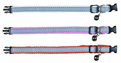 Reflective Cat Collar Safer Life For Cats | Plastic With Felt | Choice Of Colour