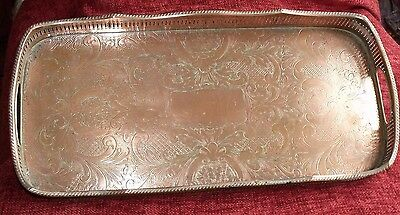 Vintage Silver Plated Copper Tray With All Plating Removed