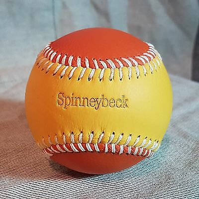 Superb Spinneybeck Baseball Orange and yellow leather with white Stitching