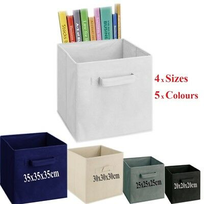 Foldable Square Canvas Storage Collapsible Folding Box Fabric Cubes Kids Toys