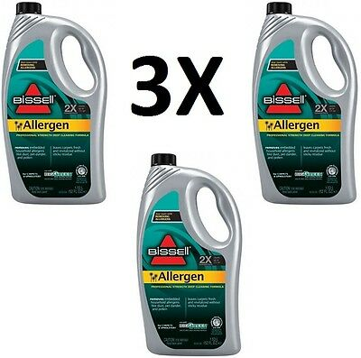 3 Bissell Allergy Pet 1.53L X2 Vax Carpet Cleaner Washer Liquid Shampoo Solution