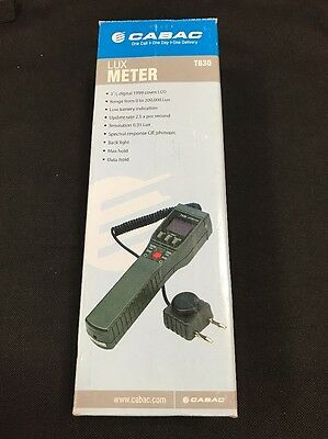 Brand New Cabac T630 Lux Meter 0 to 200,000 lux