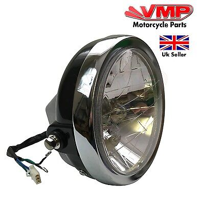 New Yamaha YBR125 YBR 125 2006 Round Headlight Head Lamp Assembly 125 E Marked
