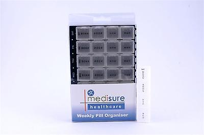 MediSure 28 Compartment Pill Reminder/Weekly Organiser - Small