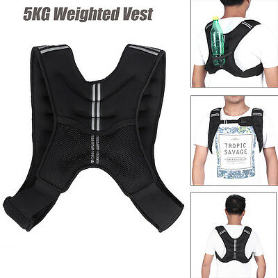 5Kg Weighted Vest Weight Loss Jacket Training Running Vest Sand Pad Gym Fitness