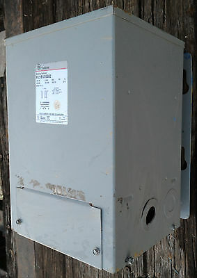GE 10 KVA  480-240/120 Volt 1 Phase Transformer, Cat#9T21B1015G02 Wall Mount