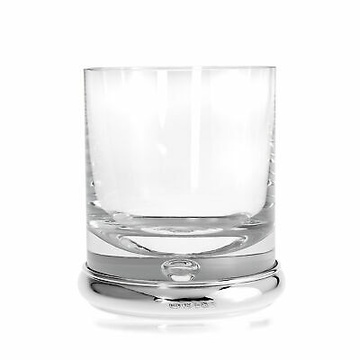 Large 925 Sterling Silver Based Whiskey Tumbler Glass Personalise Engravable