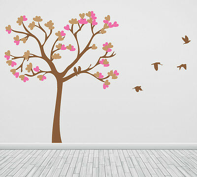 Singing Birds On The Branch Wall Sticker Large Removable Genuine Broomsticker