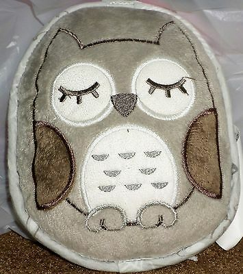 Eddie Bauer Sleeping Vibrating Gray Brown Owl Portable Baby Soother Vibrates GUC