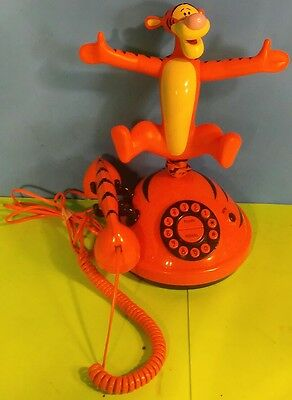 DISNEY TIGGER BOUNCING TELEPHONE Working FREE SHIPPING Winnie the Pooh