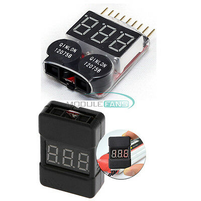 1-8S BX100 2 In1 Lipo Li-ion Battery Low Voltage Dual Speak Tester Buzzer Alarm