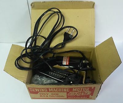 Vintage retro NOS new old stock sewing machine motor engine with foot controller