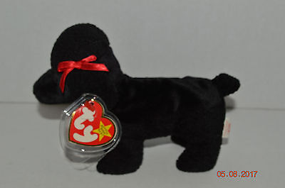TY BEANIE BABY~ 4191~GIGI The Black Poodle~5th Generation~Good Heart ... dd6d459338b
