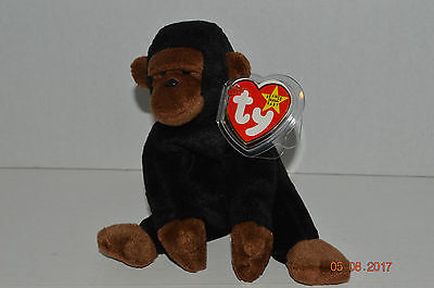 42fb1f82726 TY BEANIE BABY~ 4160~CONGO The Gorilla~5th Generation~Good Heart Tag ...