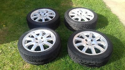 "Peugeot 206 nimrod 16"" alloy wheels and good tyres 4x 108 fitment"