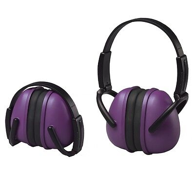 ERB Folding Ear Muffs, NRR 23 Hearing Protection, Purple, 14243