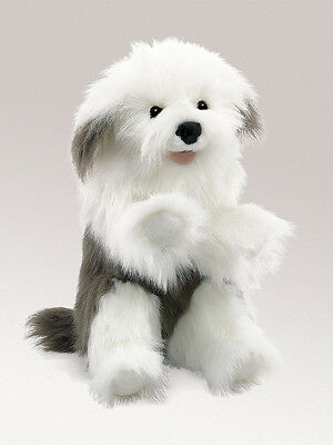 Sheepdog Hand Puppet with Moveable Mouth, Folkmanis MPN T2029, 3 & Up