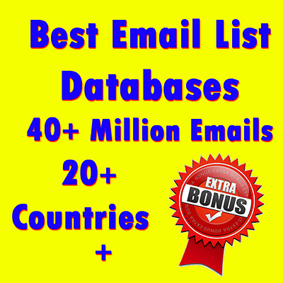 Best Email List Databases | 40+ Million Emails | 20+ Countries + Extra Bonus