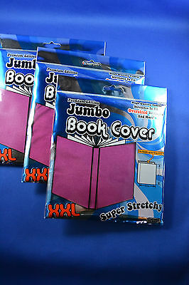 Jumbo Book Covers XXL PINK (Lot of 3) NEW!