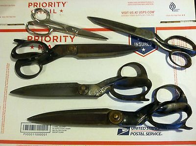 J Wiss and Sons, Wiss, Herder lot of five tailor shears